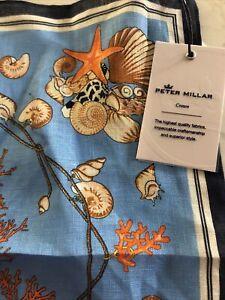 PETER MILLAR Crown 100% Linen Coral Reef Pocket Square Handkerchief NWT