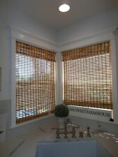 ARLO Blinds 34 x 53 Rustique Corded Bamboo Roman Shade Light Filtering Exc.Cond