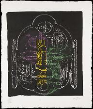 Ladislas Kijno : Papier froissé collé et réhaussé - Bouddha - Signé à la main