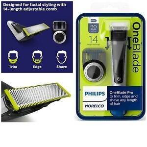 Philips Norelco Oneblade  Face Pro Hybrid Electric Trimmer & Shaver QP6520/70