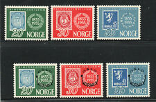 Norway - Sc# 370 - 374 MLH (cpl sm rems) - Lot 0620624