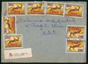 Mayfairstamps Congo 1965 Matete to US Registered Cover wwp4515