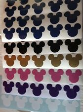 50 Disney Mickey Stencil Glass Craft Etched Vinyl Sticker Silhouette Disney Car