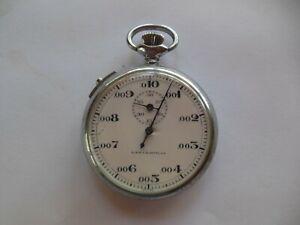 Vintage Meylan Swiss Stopwatch Pocket Watch For Repair Untested