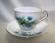 Royal Windsor Fine Bone China Tea Cup and Saucer Blue Flowers  Made in England