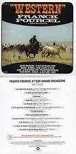 CD Franck POURCELWestern - Themes de films (1972)  - MINI LP REPLICA CARDSLEEVE