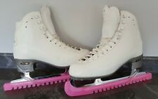New listing Risport RF4 White Ice Skates Size 7 Uk (275) With Mark IV Blades Good Condition
