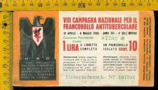 Libretto erinnofilo antitubercolare tv 181