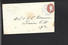 BALTIMORE,MARYLAND 1861 3CT NESBITT STAR DIE,  EMBOSSED ADVT. WARDER&BARRETT.
