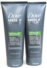 2 Dove Men Care 7 Oz Alcohol Free Wet Look Strong Hold Smooth Finish Control Gel