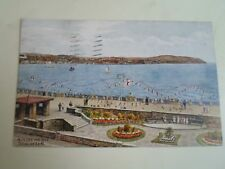 A R QUINTON Postcard 4012 Across The Bay Douglas Isle Of Man Franked 1934 §A2329