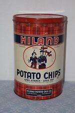 Vintage Collectible Hiland Potato Chips Tin Des Moines - Davenport Iowa
