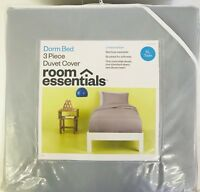Twin XL Dorm Bedding Set 3 Piece Bed in a Bag Comforter Set Gray Dorm Bed Duvet