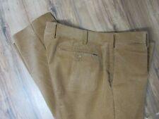 Polo Ralph Lauren Slim Fit  Flat Front Camel Corduroy Pants Mens 40 X 30 Stretch