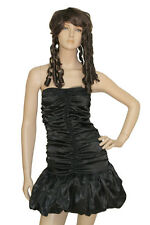 Sexy Black Dark Goth Angel Fancy Dress Costume Outfit Halloween