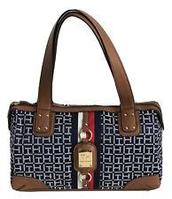 TOMMY HILFIGER Designer Signature Satchel Handbag Purse, Blue  NWT $88