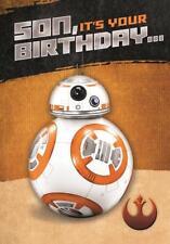 STAR WARS SON BIRTHDAY CARD BB-8 DISNEY NEW GIFT