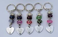 Dog Lovers Bereavement Bag Charm / Key Ring with Sentimental Charm Message