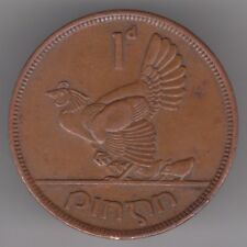 Ireland 1d Penny 1942 Bronze Coin - Hen and Chicks