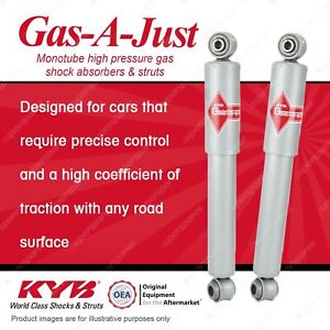 2 x Rear KYB Gas-A-Just Shock Absorbers for Chevrolet Corvette C2 C3