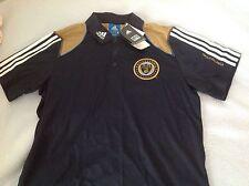 New adidas mens mls soccer futbol Philadelphia Union polo shirt sm retail $50