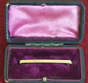 9CT GOLD ANTIQUE TIE PIN CRAVAT PIN SCARF PIN HALLMARKED in original box