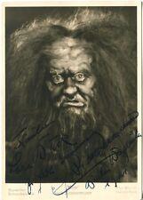 """ERICH ZIMMERMANN - orig. Autogramm - 1941 - """"Mime"""", Bayreuther Bühnenfestspiele"""