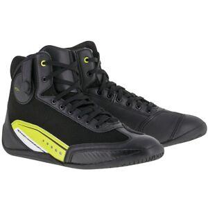 Alpinestars AST-1 Motorcycle Motorbike Short Shoes Boots - Black / Yellow