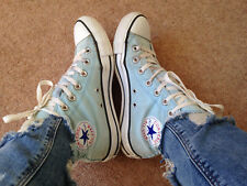 CONVERSE BLUE SKY OLD SCHOOL CHUCK TAYLOR ALL-STAR HIGH TOP Size UK 5 Eur 37.5