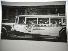 Original 1940s Tour Bus Times Square New York City Nyc 616 Film Photo Negative