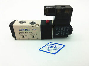 4V210-08 DC24V 2 Position 5 Way Magnetic Solenoid Air Pneumatic Valve