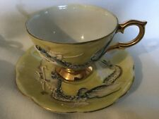 SHAFFORD HAND DECORATED CUP AND SAUCER JAPAN   RAISED DRAGON