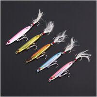 5 pcs Small Metal Jig Lures Offshore Fishing Lures Snapper Kning Tuna Jigging