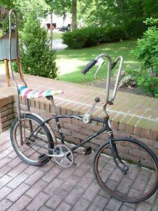 Schwinn Stingray Fastback Black Stick Shift Sissy Bar Lifesaver Banana Seat Bike