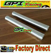 "2X  2.5"" 63mm Straight Aluminum Turbo Intercooler Pipe Tube Tubing 600MM"