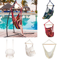 Hanging Hammock Chair Outdoor Swing Patio Porch Home Garden Cotton Seat Sling
