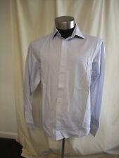 Camicia da uomo NEXT COTONE BLU PICCOLO quadratini, colletto 43.2CM Regular,