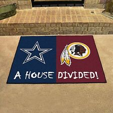 Dallas Cowboys - Washington Redskins House Divided All Star Area Rug Mat