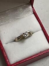 PETITE 14K YELLOW GOLD 1/3 CT ROUND DIAMOND ENGAGEMENT  RING