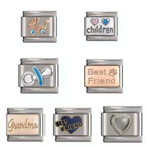UK Classic Italian Charm fits 9mm Italian Charm Bracelet Baby Children Friend