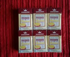 Dominion Sugar Free Sweets. Rhubarb And Custard Flavour, 44g Sealed. X 6 Boxes