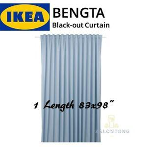 "IKEA BENGTA Black-out Curtain Blue 1 Length 83x98 """