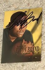 ELTON BRAND CHICAGO BULLS SIGNED SKYBOX CARD coa