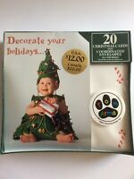 Vtg Tom Arma Studio Inc Pkg 20 Baby Christmas Tree Cards & Candy Cane Evelopes