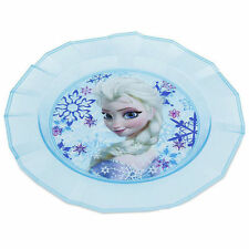 New Disney Store FROZEN ELSA Party Dinner Dessert hard plastic PLATE Mealtime 3+