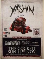 YASHIN We Created A Monster Gig Show Tour POSTER promo print cd
