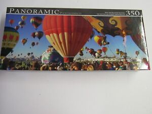Panoramic 350 Piece Puzzle Colorful Hot Air Balloon Festival Unopened