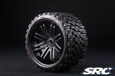 SRC Terrain Crusher Belted Mounted Tires for 1/8 17mm hex / E-REVO Kraton (Pair)