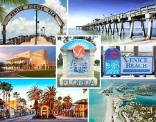 Florida - VENICE Collage - Travel Souvenir Flexible Fridge MAGNET