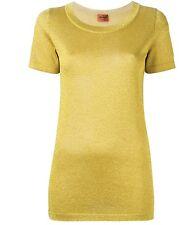 Missoni top shirt metallic  yellow 42